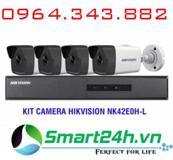 Bộ Kit 4 Camera IP HD1080P HIKVISION NK42E0H-L