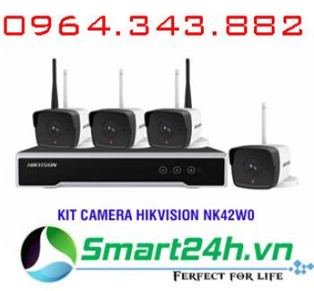Bộ Kit 4 Camera IP Wifi 2MP HIKVISION NK42W0