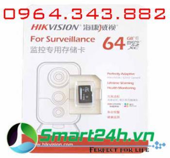 Thẻ nhớ 64Gb cho camera IP Hikvision DS-UTF64G-L2